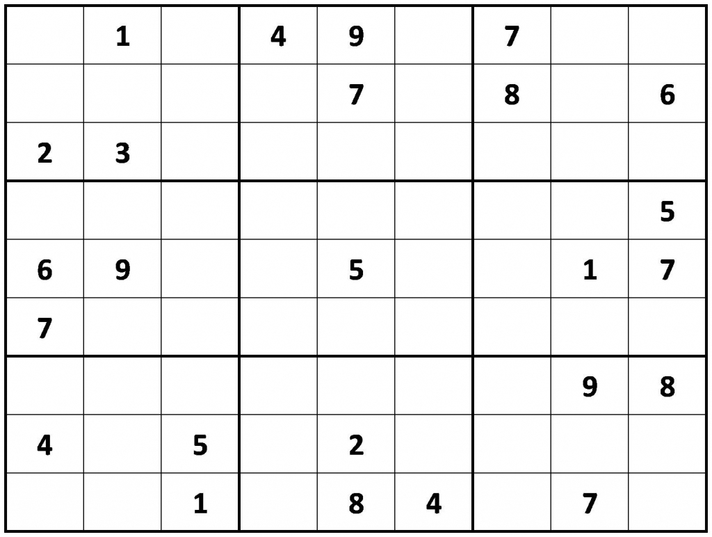 Printable Sudoku | Printable Sudoku Game Medium