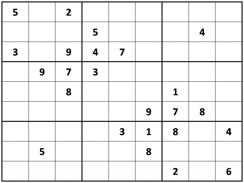 Printable Sudoku | Printable Sudoku Medium Puzzles