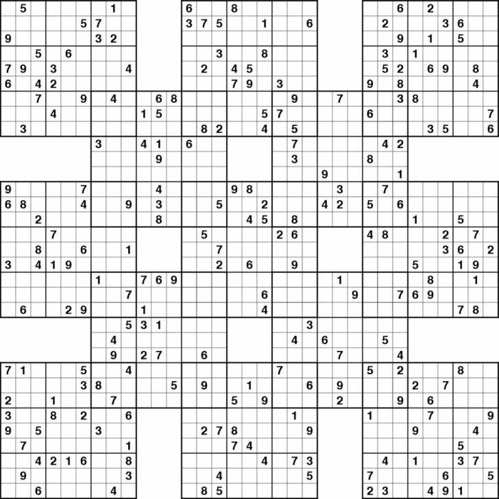 Printable Sudoku Puzzles Com Samurai
