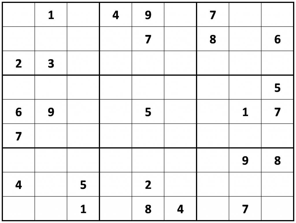 Printable Sudoku | Printable Sudoku Puzzles Easy