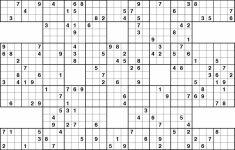 Printable Sudoku Samurai Puzzles