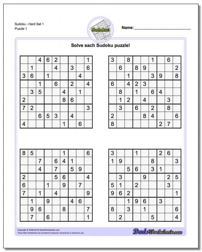 Printable Sudoku Puzzle | Ellipsis | Free Printable Sudoku Variations