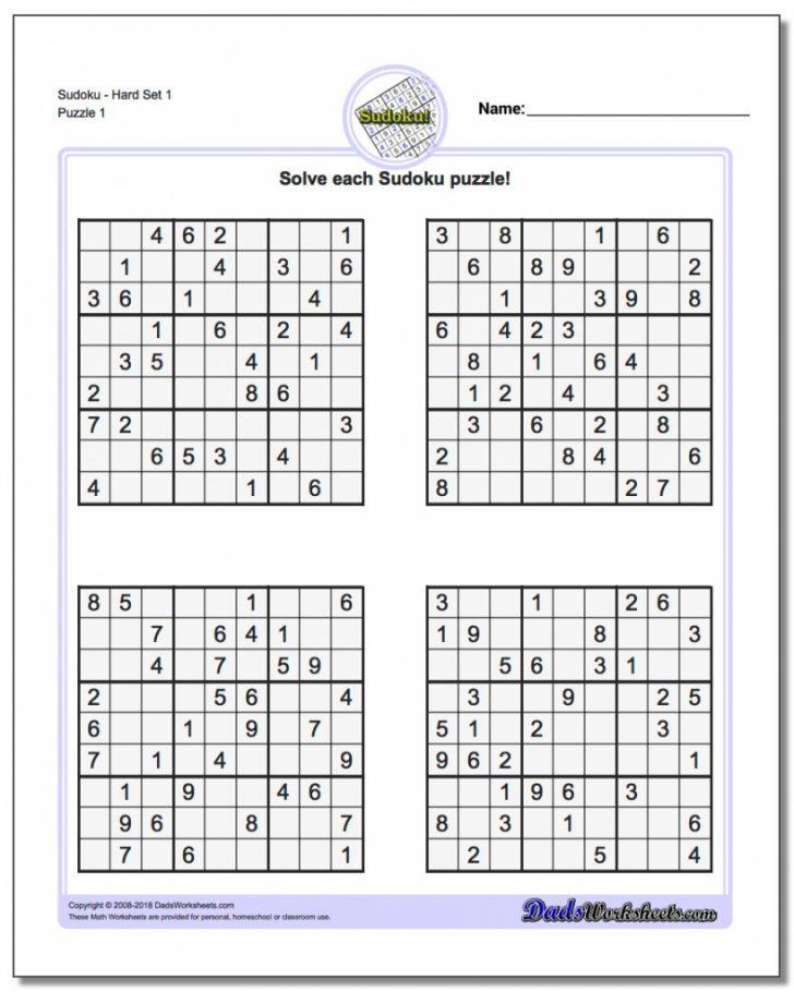 Printable Sudoku For Grade 5