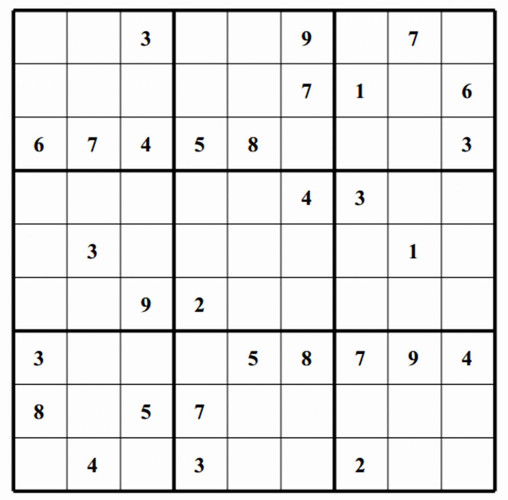 Printable Sudoku Puzzle Fresh Inspirational Printable Sudoku Puzzles | Printable Sudoku Org