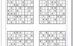 Printable Sudoku Worksheets For Adults