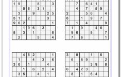Printable Sudoku Worksheets With Answers
