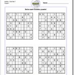 Printable Sudoku Puzzles | Math Worksheets | Sudoku Puzzles, Math | Printable Sudoku For Seniors