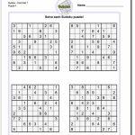 Printable Sudoku Puzzles   Math Worksheets   Sudoku Puzzles, Math   Printable Sudoku Medium Difficulty