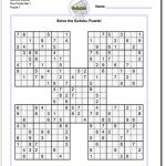 Printable Sudoku Samurai! Give These Puzzles A Try, And You'll Be | Printable Sudoku 4 Per Page With Answers