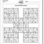 Printable Sudoku Samurai! Give These Puzzles A Try, And You'll Be | Printable Sudoku 4 To A Page