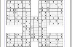 Printable Sudoku Samurai! Give These Puzzles A Try, And You'll Be | Printable Sudoku Medium Pdf