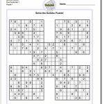 Printable Sudoku Samurai! Give These Puzzles A Try, And You'll Be | Printable Sudoku Puzzles 4 Per Page