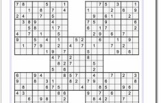Printable Sudoku Samurai! Give These Puzzles A Try, And You'll Be | Printable Sudoku Worksheets