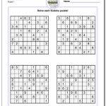 Printable Sudoku Sheets | Ellipsis | Printable Sudoku For Children