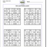 Printable Sudoku   Under.bergdorfbib.co | Printable Sudoku 4 Per Page Pdf
