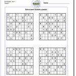 Printable Suduko | Aaron The Artist | Printable Sudoku With Solutions