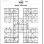 Samurai Sudoku Five Puzzle Set 1 #sudoku #worksheet | High Five | High 5 Sudoku Printable