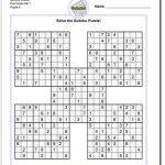 Samurai Sudoku Five Puzzle Set 1 #sudoku #worksheet | High Five | Sudoku Printables 1 4