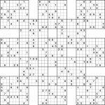 Samurai Sudoku Printable Printable Samurai Sudoku New Template | Printable Samurai Sudoku Grid