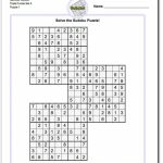 Samurai Sudoku Triples | Math Worksheets | Sudoku Puzzles, Math | 6 Square Sudoku Printable