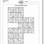 Samurai Sudoku Triples | Math Worksheets | Sudoku Puzzles, Math | Printable Sudoku Samurai Puzzles
