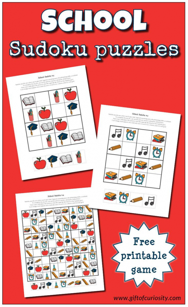 School Sudoku Puzzles {Free Printables} | Free Printable Of The Day | Printable Sudoku Of The Day