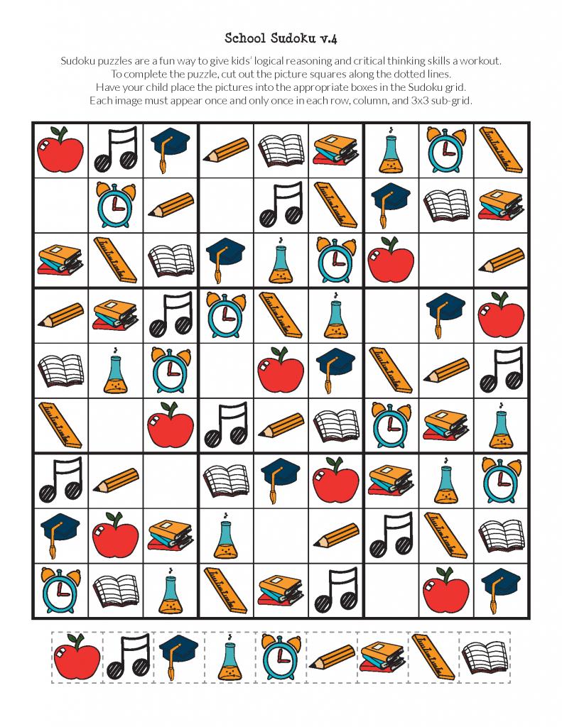 School Sudoku Puzzles {Free Printables} - Gift Of Curiosity   Printable Halloween Sudoku