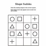 Shapes Picture Sudoku Puzzle | Free Printable Puzzle Games | Printable Sudoku With Shapes
