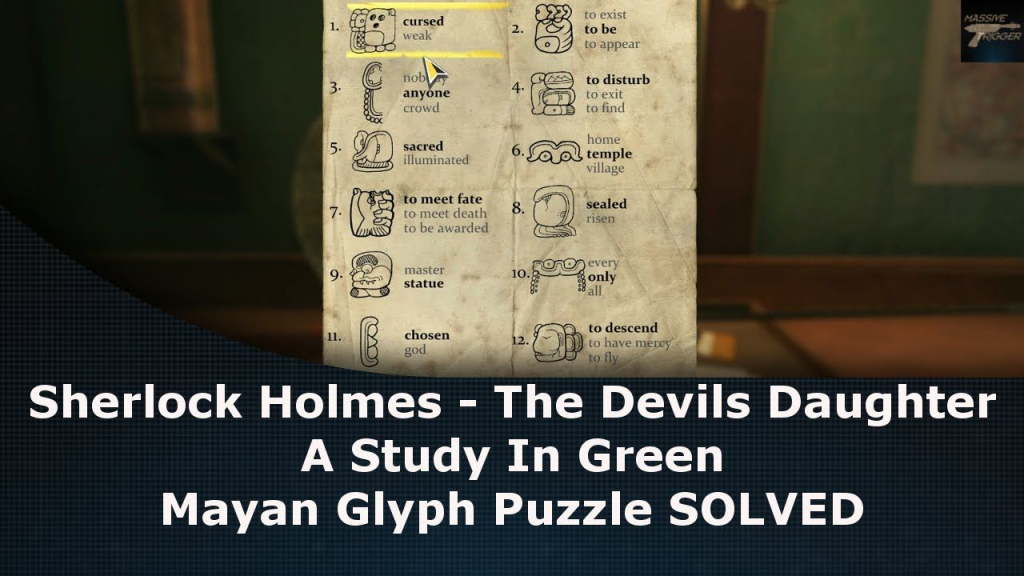 Sherlock Holmes The Devils Daughter Mayan Glyph Puzzle Solved | Sudoku 9981 Printable