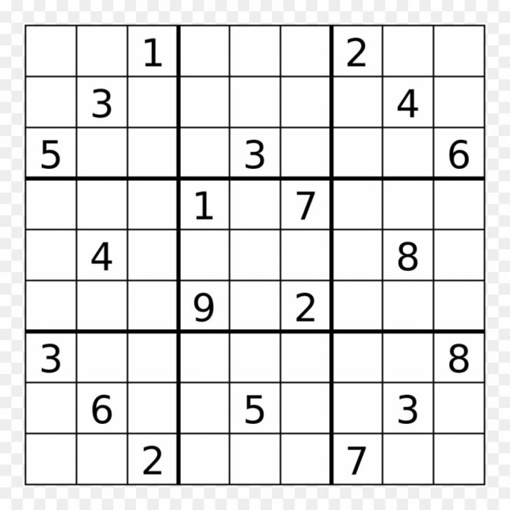 Printable Web Sudoku