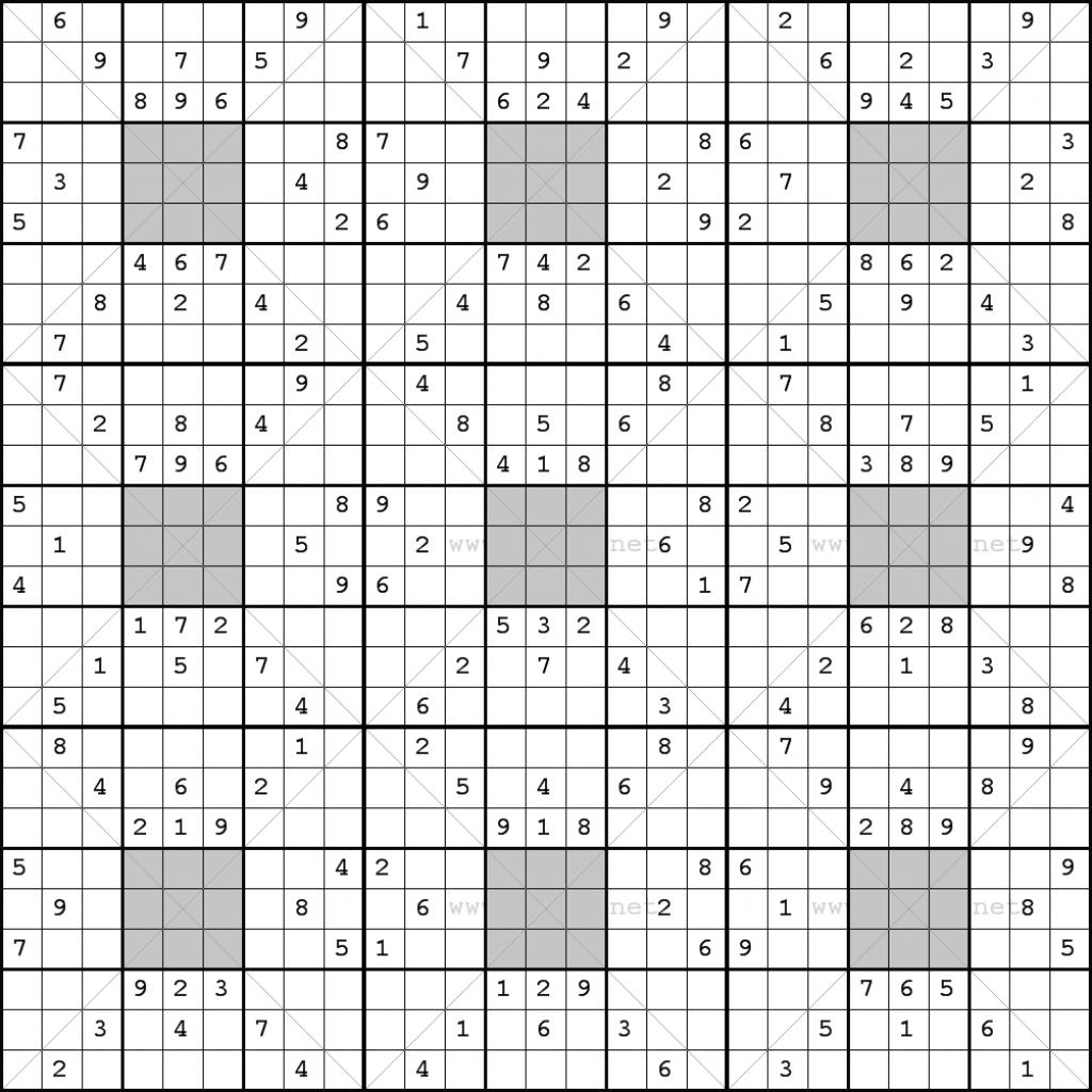 Solution Puzzles Printable Sudoku 25X25 | Printable Sudoku 25X25 Puzzles