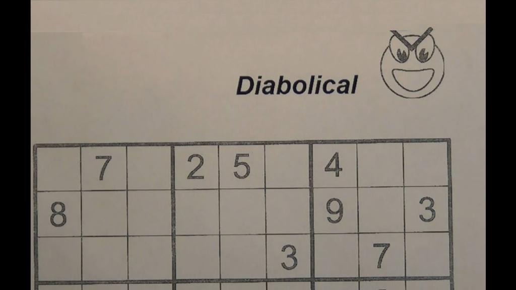 Solve Diabolical Sudoku Puzzles - Very Hard - Youtube | Printable Sudoku Diabloic Puzzles