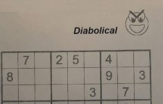 Printable Sudoku Diabolical Puzzles