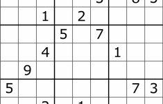 Printable Sudoku Hard Puzzles