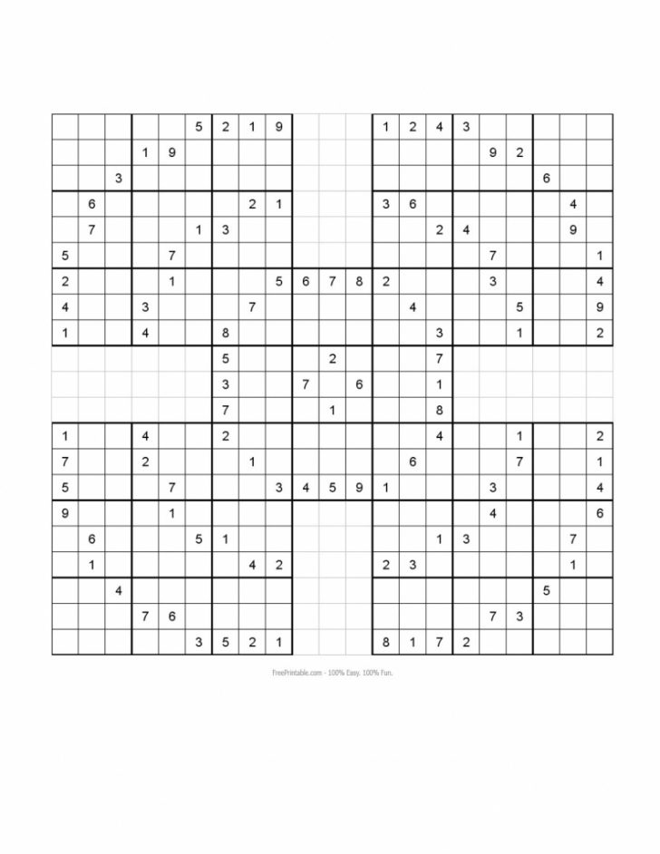 Printable Monster Sudoku 16X16