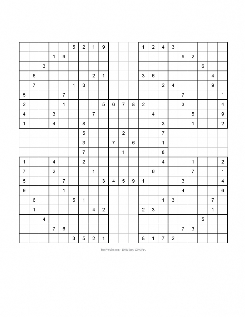 Sudoku 16X16 Daily Printable Monster | Printable Monster Sudoku 16X16