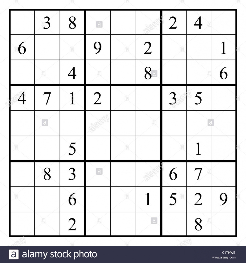 Sudoku Black And White Stock Photos & Images - Alamy | Easy Sudoku Printable 2 Per Page