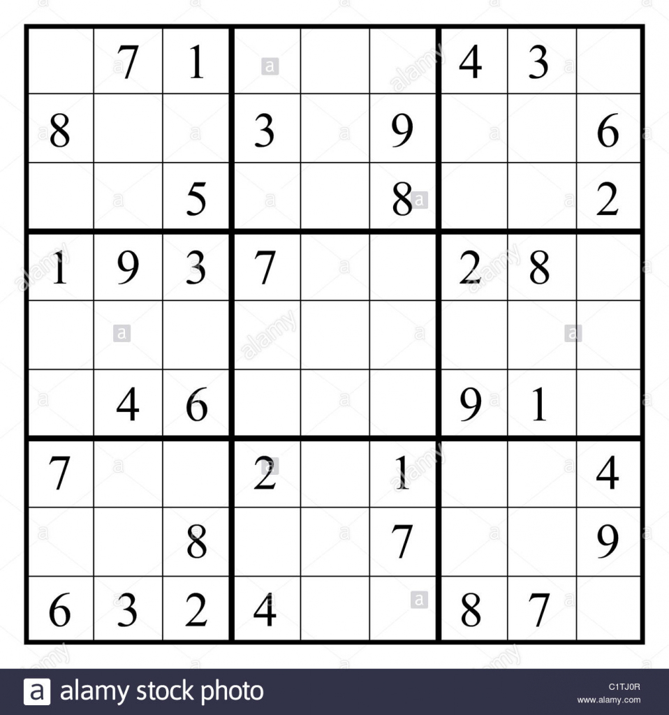 Sudoku Black And White Stock Photos & Images - Alamy | Printable Hexadecimal Sudoku