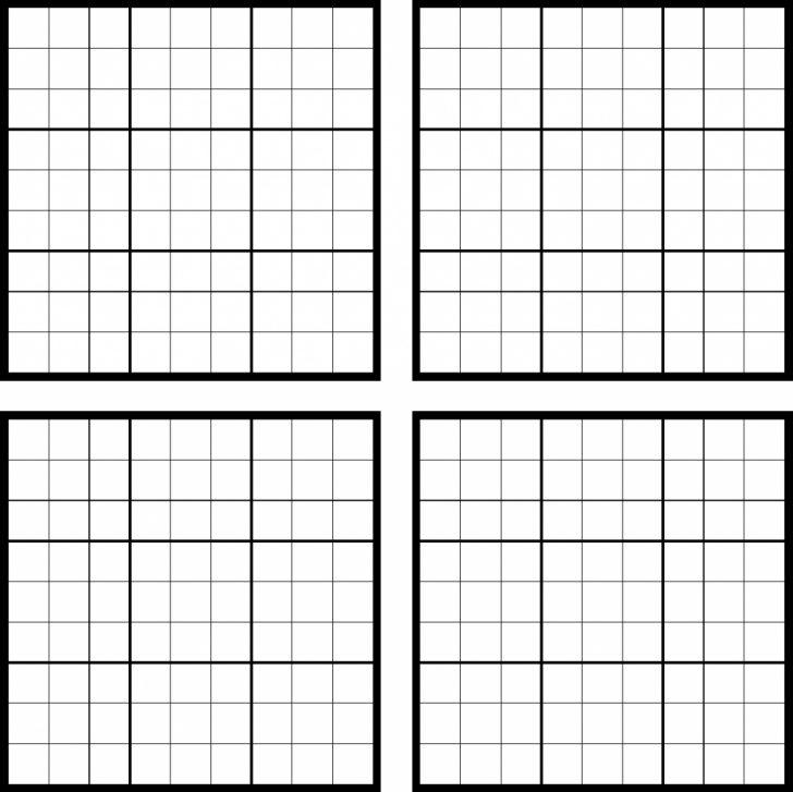 Printable Sudoku Sheets Blank