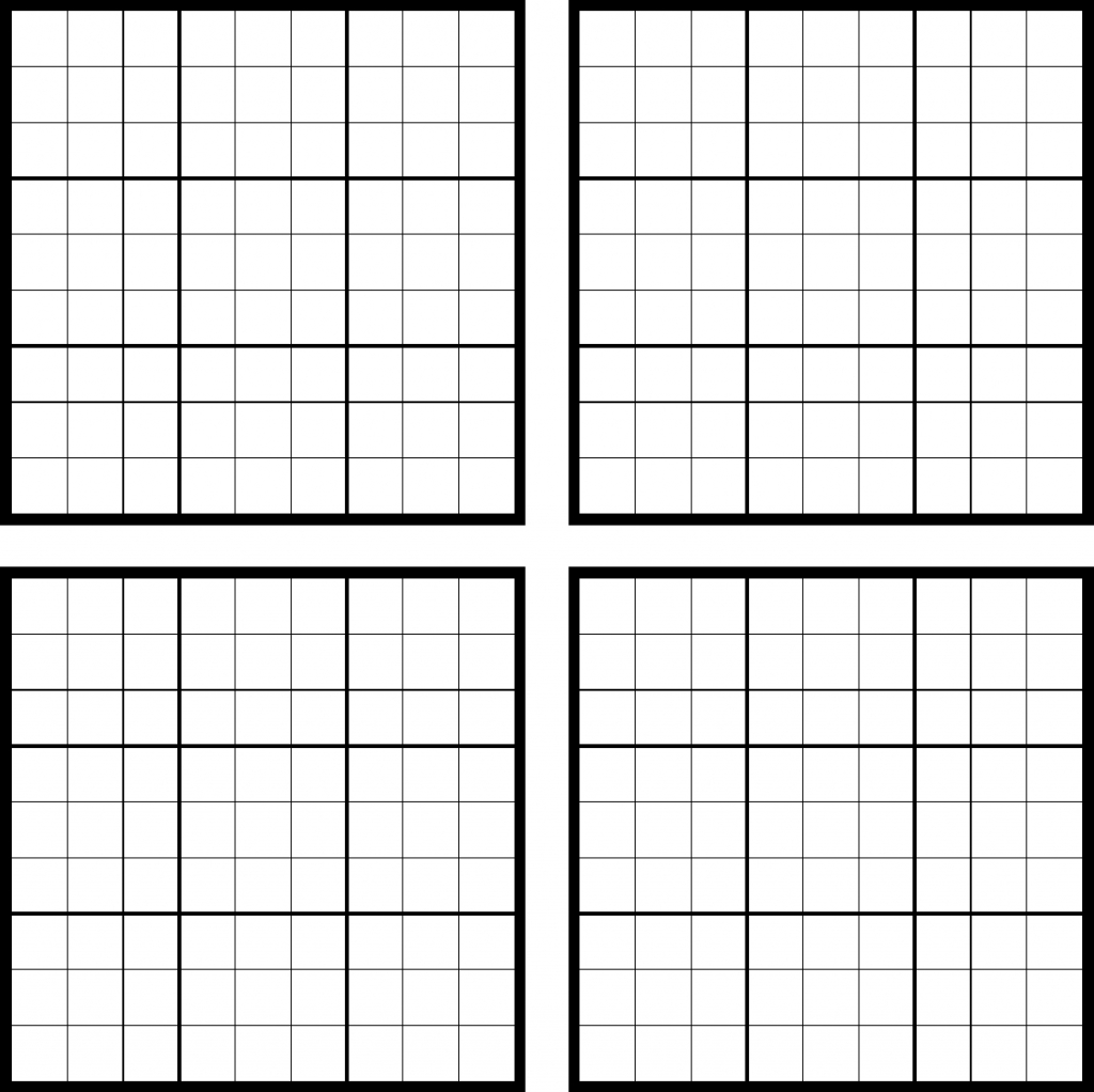 Sudoku Blank Template - Under.bergdorfbib.co | Printable Sudoku Sheets Blank