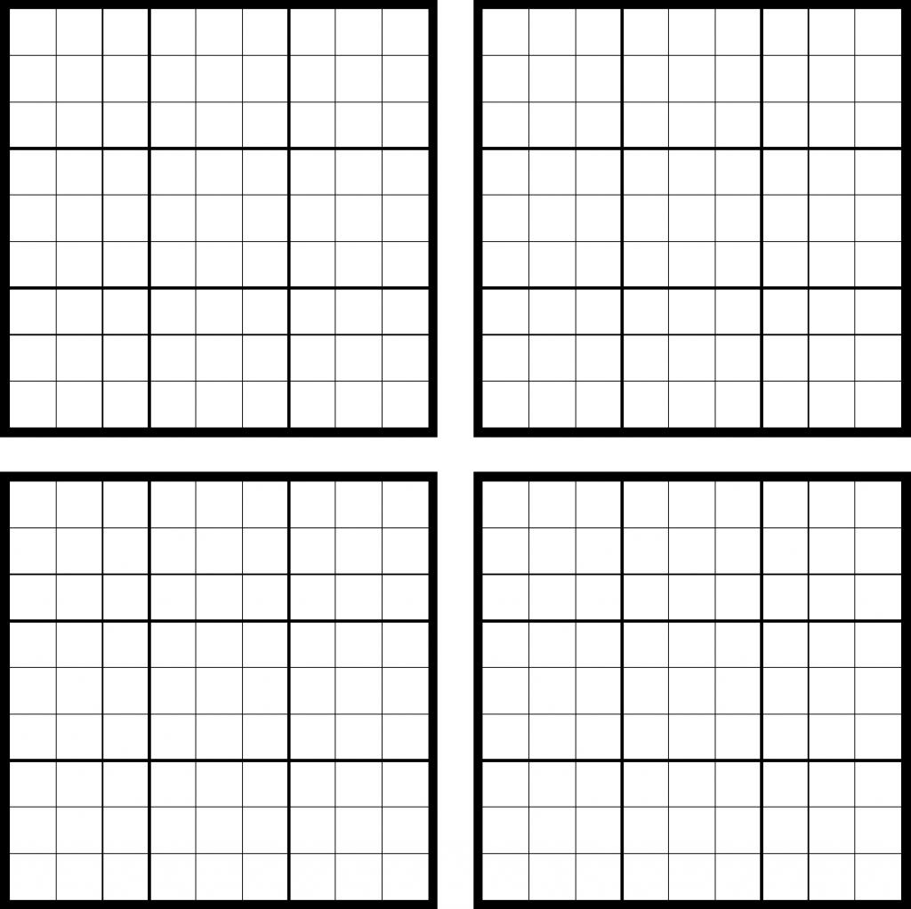 Sudoku Blank Template - Under.bergdorfbib.co | Printable Sudoku Sheets Blank