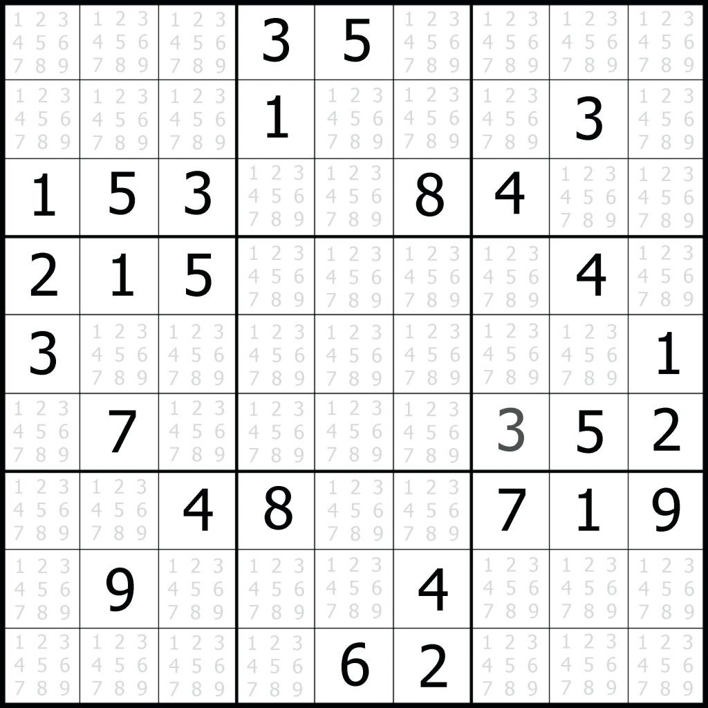 Sudoku Blank - Under.bergdorfbib.co | Printable Sudoku 1 Per Page