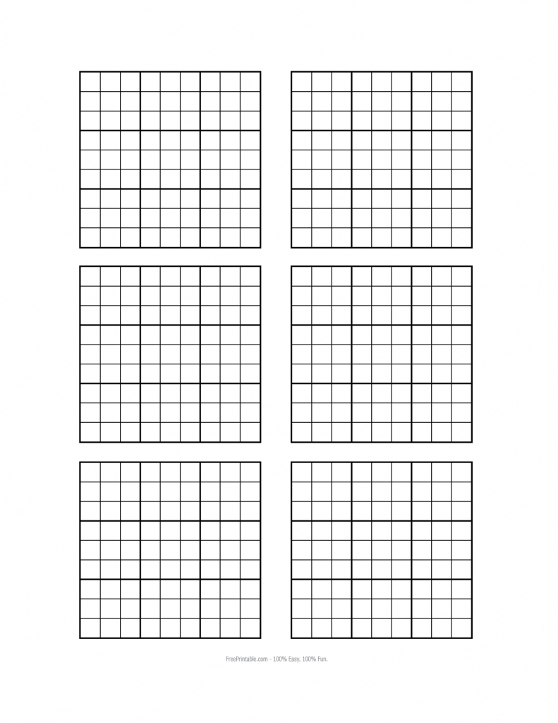 Sudoku Blank - Under.bergdorfbib.co | Printable Sudoku Board