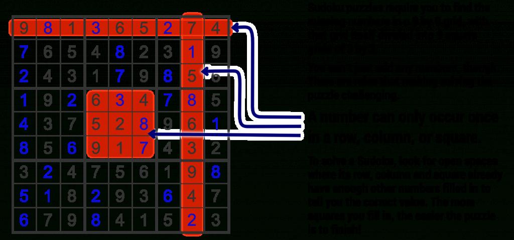Sudoku - Easy   Printable Sudoku Instructions
