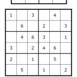 Sudoku For All Ages Plus Lots Of Other Printable Activities For Kids | Printable Sudoku 4X4