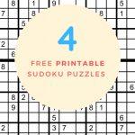 Sudoku Free Printable   4 Intermediate Sudoku Puzzles   Puzzle Parade | 4 Sudoku Printable
