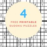 Sudoku Free Printable   4 Intermediate Sudoku Puzzles   Puzzle Parade | Printable Sudoku Free Download