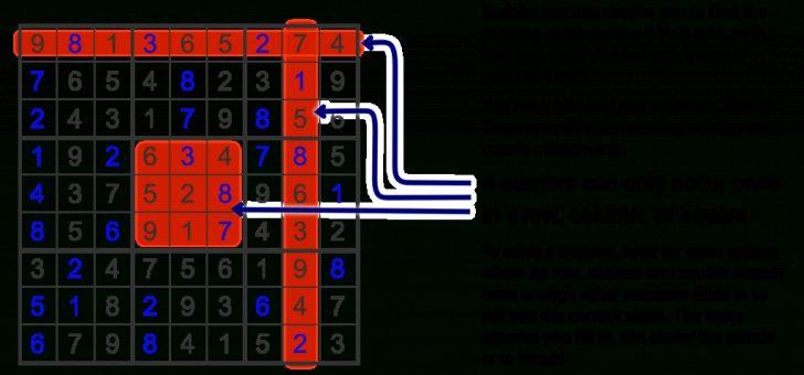Free Printable Sudoku Instructions