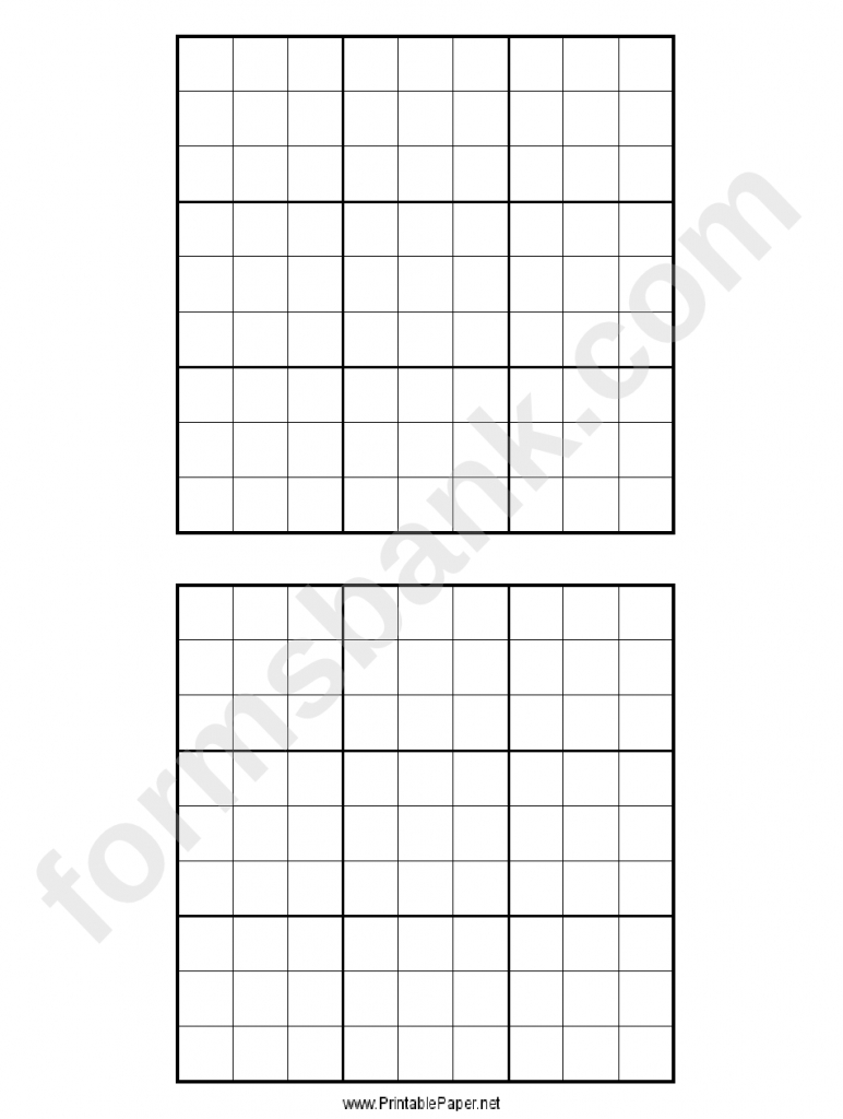 Sudoku Grid Template Printable Pdf Download | Sudoku 2X3 Printable