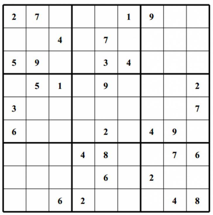 Printable Sudoku 8X8
